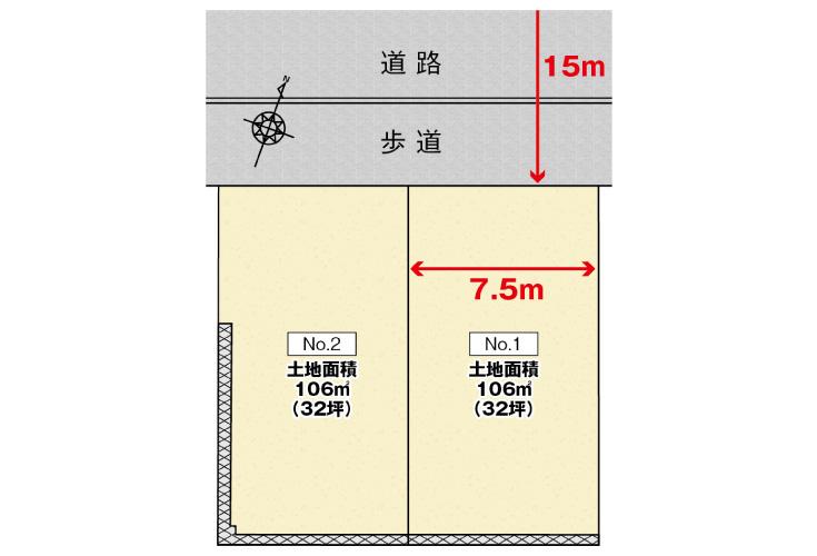 広島市安佐北区亀崎1丁目3土地分譲住宅区画図