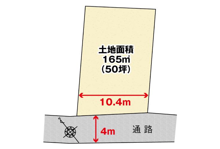 広島市安佐南区大町東3丁目22土地分譲住宅区画図