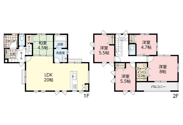広島市安芸区瀬野5丁目6新築一戸建て分譲住宅間取り図