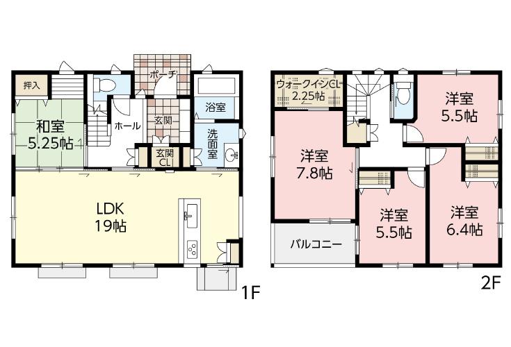 広島市西区己斐上5丁目30新築一戸建て分譲住宅間取り図