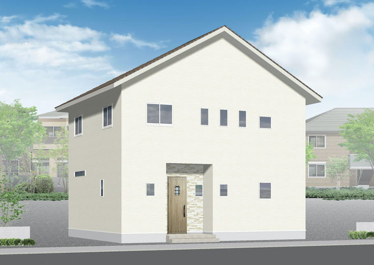広島市西区己斐上5丁目30新築一戸建て分譲住宅外観パース