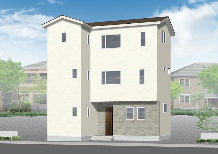 広島県安芸郡府中町青崎中6新築一戸建て分譲住宅外観パース