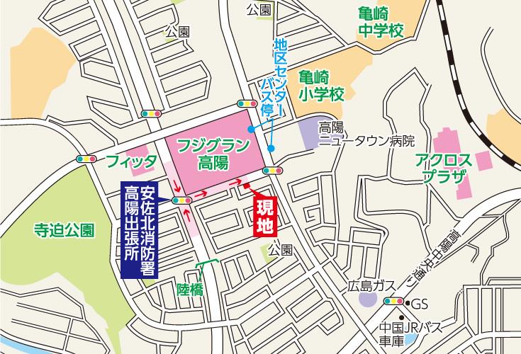 広島市安佐北区亀崎1丁目3土地分譲住宅現地案内図