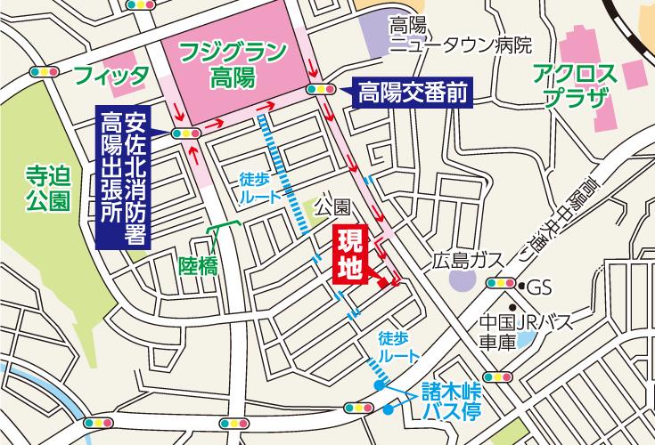 広島市安佐北区亀崎1丁目30新築一戸建て分譲住宅現地案内図