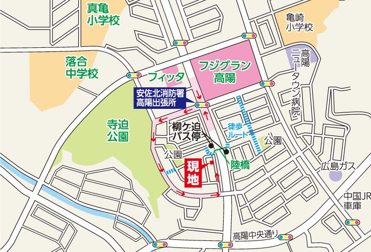 広島市安佐北区真亀1丁目16土地分譲住宅現地案内図