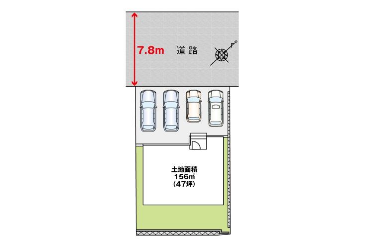 広島市安佐南区長楽寺3丁目16新築一戸建て分譲住宅区画図