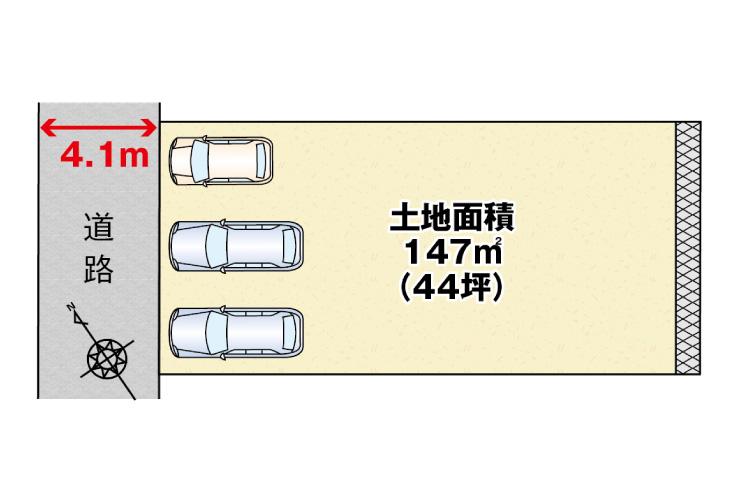 広島市西区己斐上3丁目28新築一戸建て分譲住宅区画図