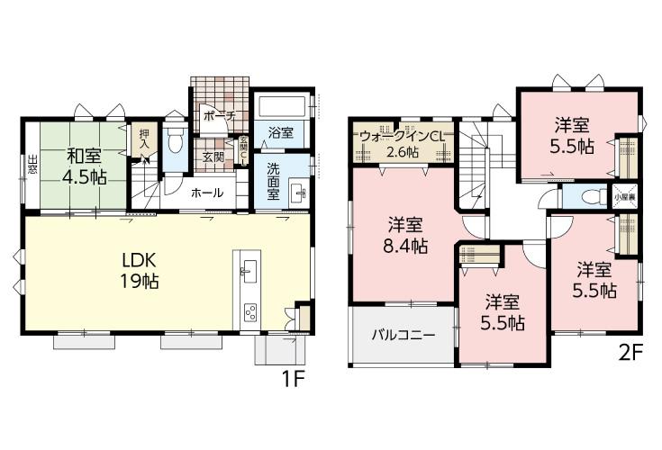 広島市安佐南区長楽寺3丁目16新築一戸建て分譲住宅間取り図