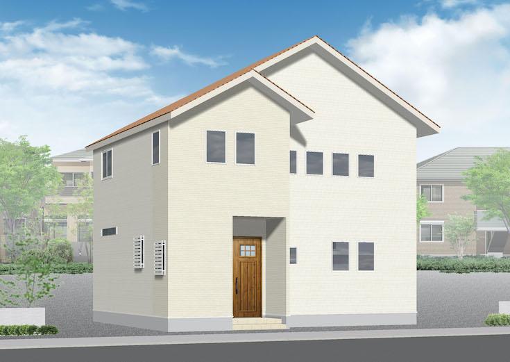 広島市安佐南区長楽寺3丁目16新築一戸建て分譲住宅外観パース